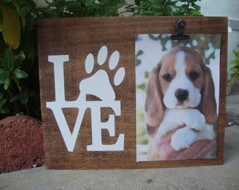 dog picture frame paw print picture frame dog lover gift love paw frame - Dog Picture Frame