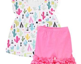 Cactus Shorts Set