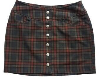 Vintage checked Sisley mini skirt no. 40