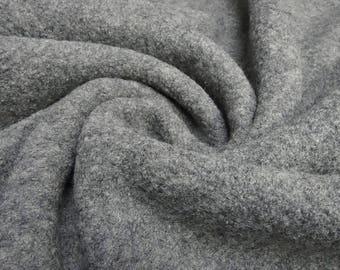 Fabrics 100% Wool Walkloden Uni Grey melange (21.00 EUR/Meter)