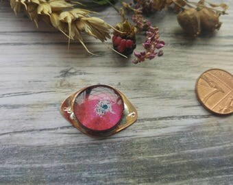 Little Doof. Copper and Resin connector. Art beads. Jewellery Making. Twinkiedinky. Poppy doof.