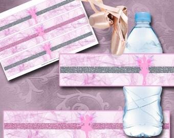 Ballerina Fairy Bottle Labels Instant Download Printable Fairy Birthday Invitations