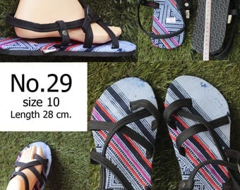 Shoes Slippers Traditional Hill tribe Fabric/ size 10/ Please select  No.23/No.24/No.25/No.26/No.27/No.28/No.29/No.28/No.29/No.30