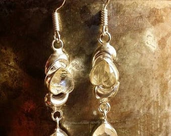 SUMMER SALE 75% Off Lemon Quartz  Earrings Gemstone  .925 Sterling  Silver