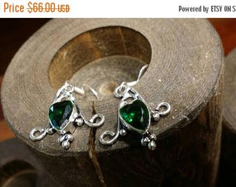 Holiday SALE 85 % OFF Green Quartz  Gemstone Earrings 925 Sterling silver Jewelry TheUnlikelyBandit