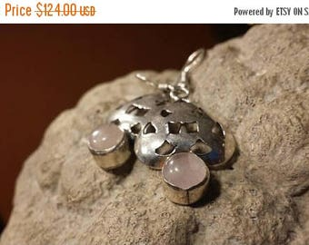 Holiday SALE 85 % OFF Rose Quartz Earrings .925 Sterling Silver Gemstone