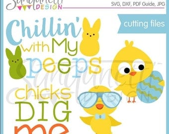 50% OFF Easter SVG, DXF, Bunny Svg, Chick svg, cut file, Easter Lettering, Files for Cutting Machines Cameo or Cricut