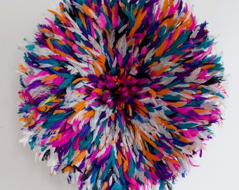 Juju Hat - Feather Headdress -  Multi Color - 75 cm/29.5 inches