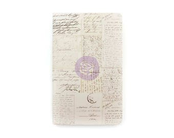 TN Insert, Travelers Notebook, Personal Sze, Old Letters, Journal, PRIMA Journal