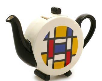 Mondrian 'Deco' Teapot