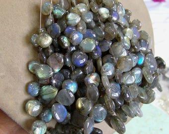 Labradorite 1 strand 8''  30, grams 8X9, 16X16 MM