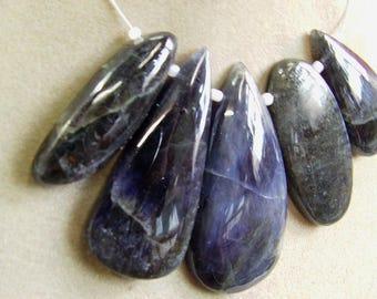 1. Strand  Iolite  Rough  beads  48, grams 12X39, 25X51, MM