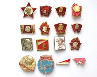 Soviet Badges, Pick from Set, Communism, Pioneer, Little Octobrist, Party, Vintage collectible badge, Pin, Soviet Union, Made in USSR