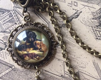Vintage Dachshund Necklace