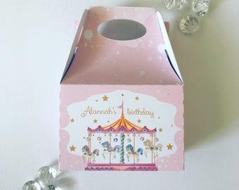 Carousel treat boxes