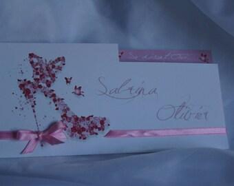 Butterfly romantic Butterfly wedding invitation