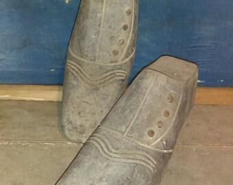 Antique French C19th mens shoe last or cobbler's form