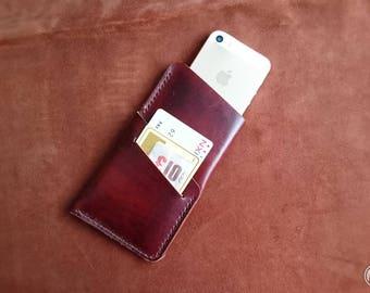 Leather iPhone 5s Case iPhone 5, iPhone SE, iPhone 5s, iphone 5s plus, iPhone 5s / 5 leather, wallet, cardholder felt