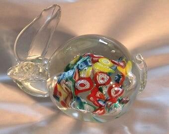 Lenwile Glass Ardalt Paperweight Rabbit