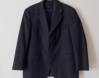 80s Sport Coat, Mens Vintage Clothing, Gray Blazer,  Jones New York, Filenes, Pinstripe Jacket, Special Occasion, Size 40W 33L, Vintage Coat