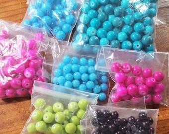 Destash glass round bead lot - LOT 15