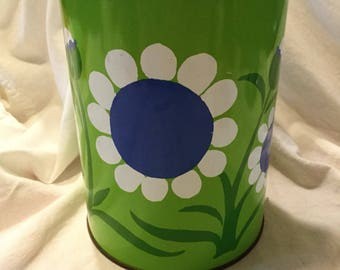 Groovy tin canister jar
