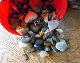 TEN POUND SALE Polished Stones For Home Decor, Crafting Stones