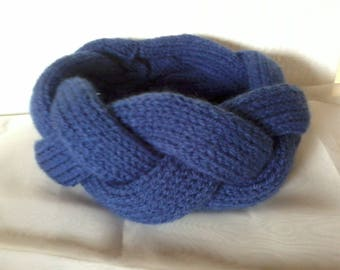 Bandeau three braided bands blue