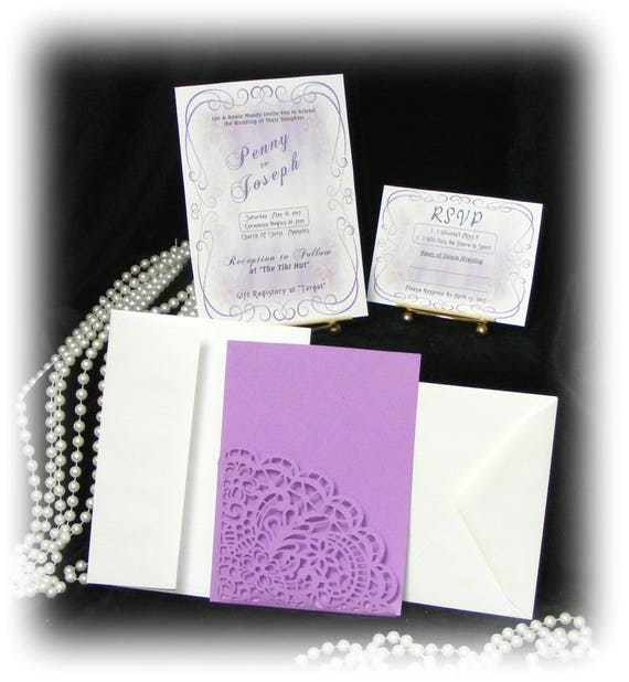 "The Penny ""WEDDING INVITATIONS PLUS"" See Price List Inside"