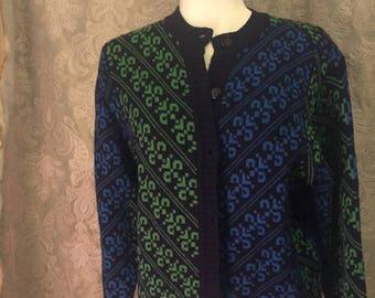 100% Merino Wool Liz Claireborne Collection Cardigan