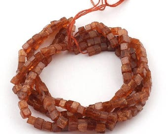 Valentines Day 1 Strand Chocolate Moonstone Faceted Briolettes - Cube Beads 4mm 16 Inches SB4841