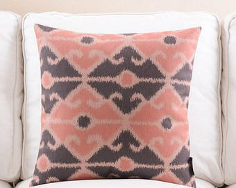 Decorative pillow, cushion cover pink decorative pattern home throw pillow shell customized size