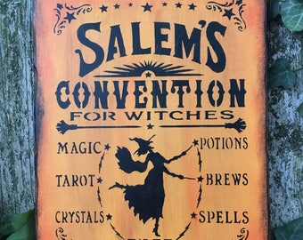 Salem's Witch Convention Sign