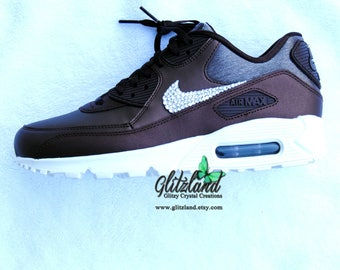 Swarovski Nike Metallic Mahogany/Mahogany Air Max Women Nike 90 Premium Blinged with SWAROVSKI® Crystals