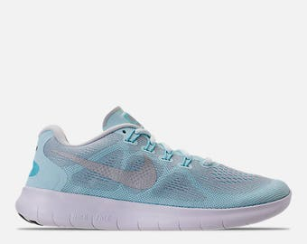 Swarovski Glacier Blue/Metallic Silver - Nike Free RN 2017 Blinged with  SWAROVSKI® Crystals
