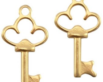 "DQ Metal Pendant ""key""-2 pcs.-Color selectable (colour: Gold)"