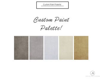 AFFORDABLE Interior Design Services! Custom paint palette selection! home decor!