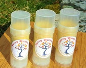 Blue Hawaiian All Natural Solid Lotion Bar with Shea Butter and Organic Beeswax in Twist Up Tube- Tattoo Balm