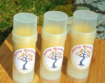 Lavender All Natural Solid Lotion Bar with Shea Butter and Organic Beeswax in Twist Up Tube- Tattoo Balm