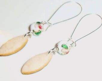 Dangle calissons cookies earrings