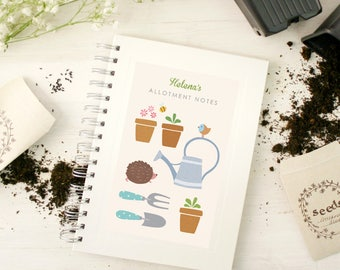 Personalised Gardening Notebook (2 designs available)