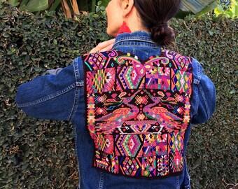 Stunning Vintage Guatemalan Huipil Jean Jacket