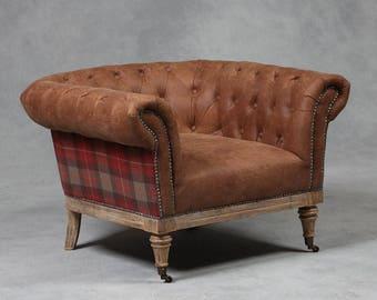 Tartan Chesterfield Armchair