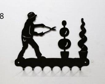 Hangs 26 cm pattern metal keys: landscape