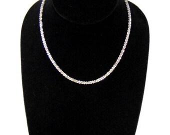 Womens Vintage Estate 14K White Gold Necklace 6.2g E1100