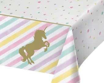 My Sweet Pastel Unicorn Party Tablecloth/ unicorn Party theme  / Unicorn Party /unicorn tablecover /unicorn tablecloth / unicorn tableware