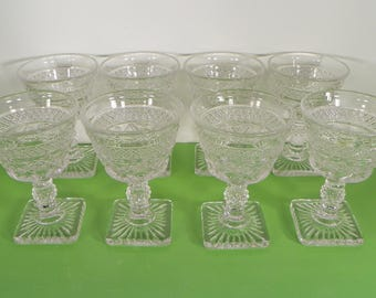 Imperial Glass CAPE COD Liquor Cocktail Goblet (s) LOT of 8 Stems