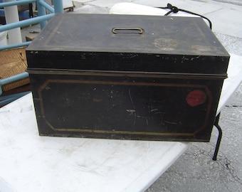 vintage cash/bank deposit box large