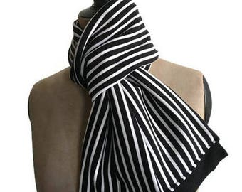 Scarf man black and white striped sailor ideal man gift Christmas gift man birthday man sea lovers gift