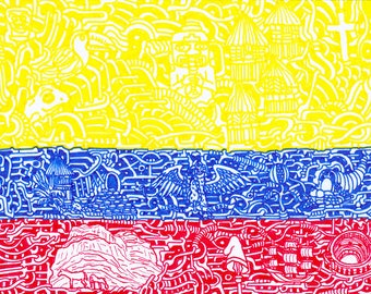"Stickers of World Flags ""Colombia"""